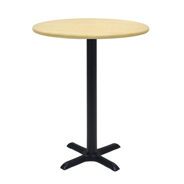 36″ Round Bar Table with Black Base - Maple