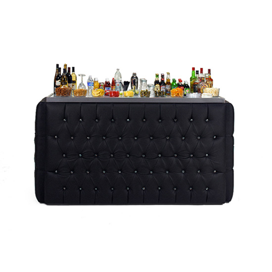 6′ Crystal Bar Surround - Black