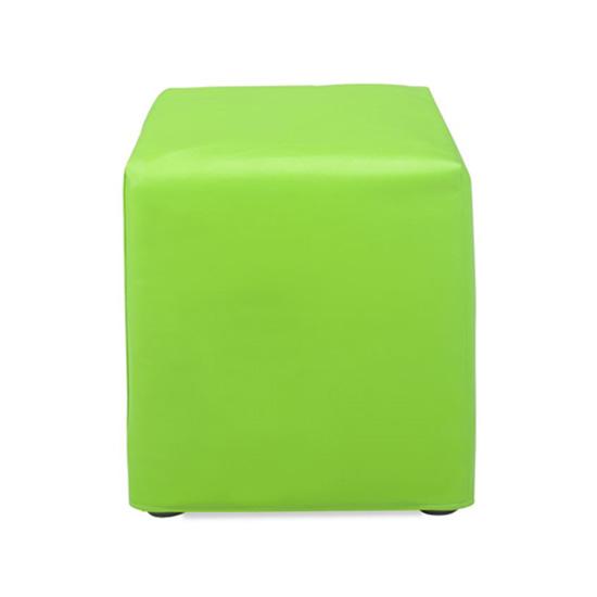 Cube Ottoman - Green Vinyl