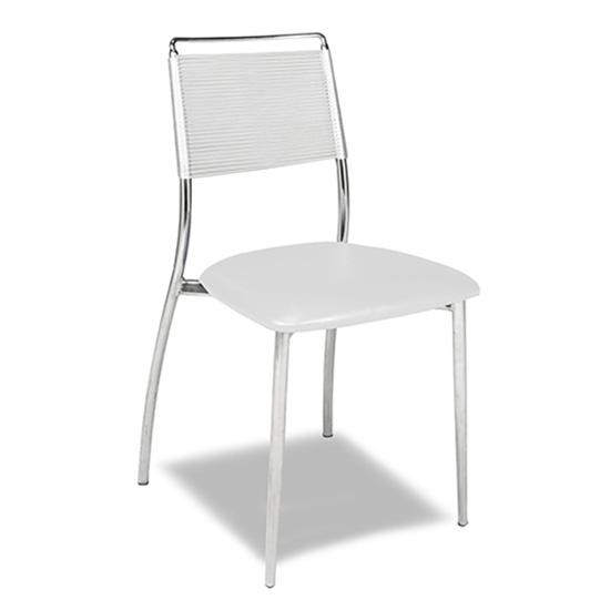 Silk Back Chair, Armless - White